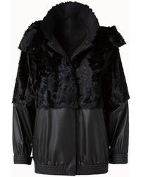 Akris Erla Silk Lamb And Nappa Leather Blouson Jacket - Black
