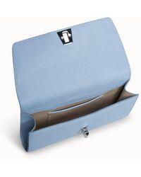 Akris Belt Bag In Cervo Structured Nappa Leather With Detachable Belt - Blue