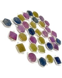 Akstar Gems - 10 Pcs Natural Sapphire Gemstone Connectors - Lyst