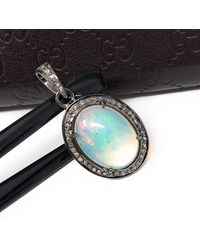 Akstar Gems Ethiopian Opal Pendant - Multicolor