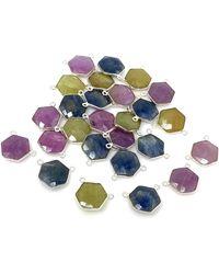 Akstar Gems - 13 Pcs Natural Sapphire Gemstone Connectors - Lyst