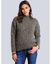 Alba Moda Pullover mit Melange-Effekt - Grau