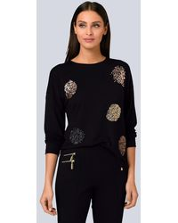 Alba Moda Shirt mit Pailletten-Details - Schwarz