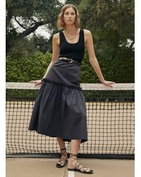 A.L.C. Louisa Cotton Skirt - Black