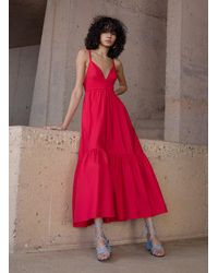A.L.C. Rhodes Cotton Poplin Dress - Red
