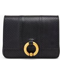 A.L.C. Baby Charlie Snakeskin Handbag - Black