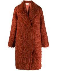Forte Forte Textured Furry Coat - Multicolor