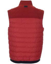 Z Zegna Red Sleeveless Jacket
