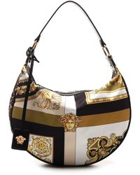 Versace Borsa Hobo Piccola Con Mix Di Stampe - Multicolor