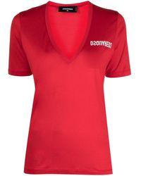 DSquared² - V-neck Jersey T-shirt - Lyst