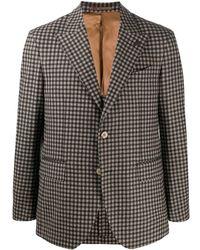 Gabriele Pasini Check Print Tailored Blazer - Multicolour