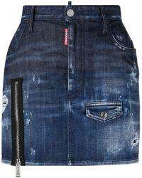 "DSquared² - Mini Gonna In Jeans ""dalma"" - Lyst"