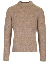Acne Studios Peeling Effect Wool Sweater - Brown