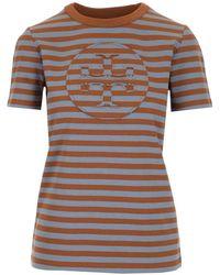 "Tory Burch T-shirt Logo Doppia ""t"" - Multicolour"