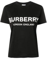 Burberry Logo T Shirt - Black