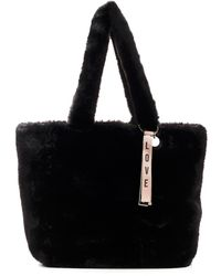 """RED V Red (v) """"love Yourself First"""" Black Shopping Teddy Bag"""