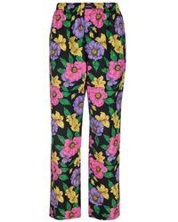 "Balenciaga Pantaloni In Seta ""lush Floral"" - Multicolour"
