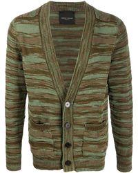 Roberto Collina Knitted V-neck Cardigan - Green