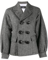 DSquared² Cappotto Corto In Tweed - Gray