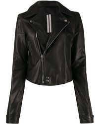 Rick Owens Slim Fit Biker Jacket - Black