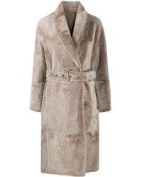 Brunello Cucinelli Reversible Shearling Coat - Natural