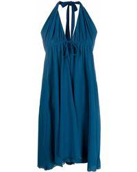 Fisico Halterneck Midi Beach Dress - Blue