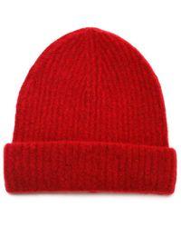 Roberto Collina Red Wool Beanie