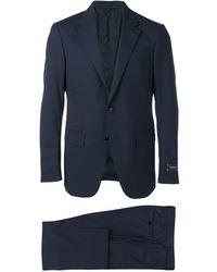 Ermenegildo Zegna Abito grigio in lana - Blu