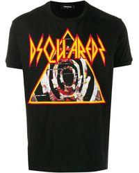 DSquared² T-shirt con stampa - Nero
