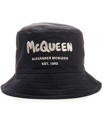 Alexander McQueen Black Bucket Hat