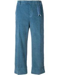 "The Gigi Pantaloni Crop ""irma"" - Blue"