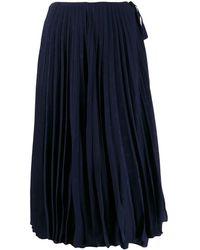 Valentino Gonna plissé mini logo - Blu