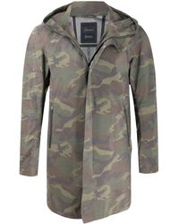 Herno Camouflage-print Hooded Jacket - Green