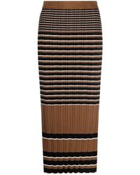 Theory - Striped Knit Skirt - Lyst