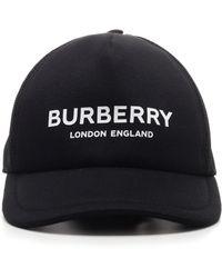 Burberry Logo Trucker Cap - Black