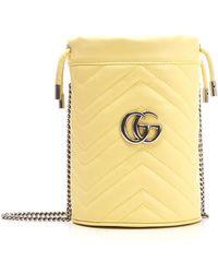 "Gucci Mini Borsa ""GG Marmont"" - Yellow"