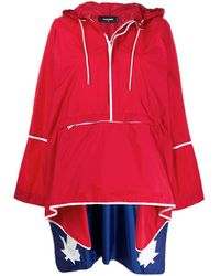DSquared² Poncho Impermeabile - Red