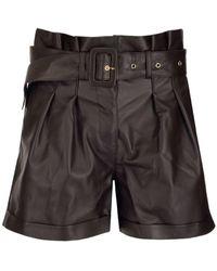 "Arma ""pippa"" Brown Leather Shorts - Multicolour"