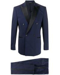 Tonello Double Breasted Tuxedo Suit - Blue