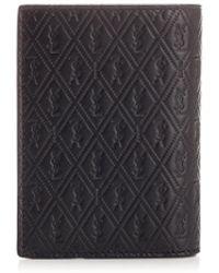 Saint Laurent - Black Leather Wallet - Lyst