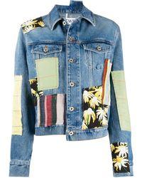 Loewe Patchwork Denim Jacket - Blue