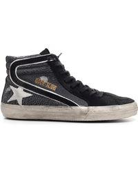Golden Goose Deluxe Brand - Slide Sneakers In Craquélé Effect Leather - Lyst