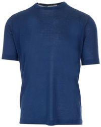 Al Duca d'Aosta Silk Jersey T-shirt - Blue