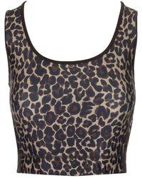 Golden Goose Deluxe Brand Keshiki Leopard Fitness Top - Brown