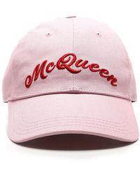 Alexander McQueen Cappello Da Baseball Rosa - Pink