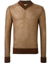Al Duca d'Aosta Pullover In Lana E Mohair - Brown