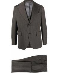 Gabriele Pasini Three-piece Herringbone Suit - Grey