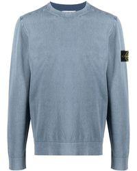 Stone Island - Sweaters Blue - Lyst