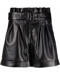 "Arma ""pippa"" Leather Shorts - Black"