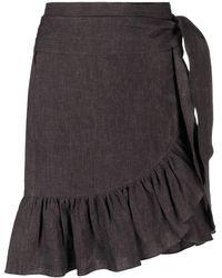 Étoile Isabel Marant Ruffled Wrap Skirt - Black